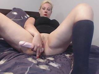 Desperate Full Bladder Dildo Fuck