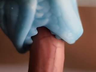 Guy Fucks His Bad Dragon Muzzle Penetrable (High Quality)