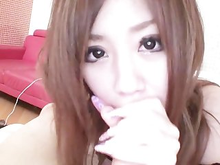 Subtitled POV Japanese gyaru gives uncensored blowjob