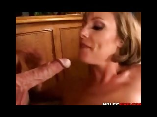 Amazing hot MILF sucking cock