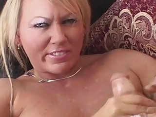 Homemade Big Tits Milf Jerking Cock For Big Facial